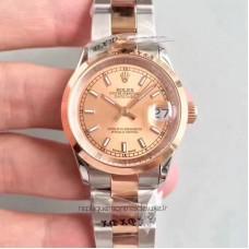 Réplica Rolex Datejust 31 178241 31MM Aco Inoxidável & Ouro Rosa Marcador de Champanhe